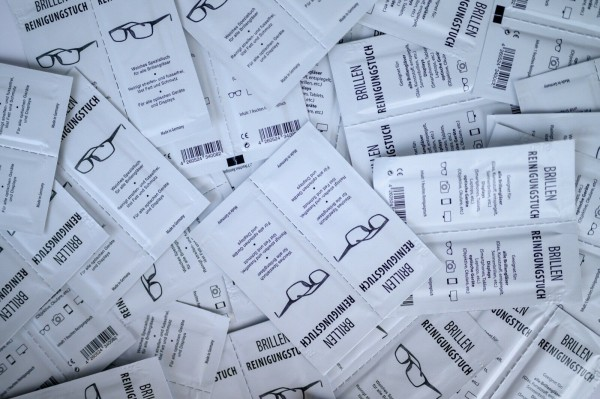 Brillenputztücher, lose im Karton, 1000 Stück